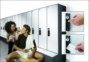 Mit dem SAFE-O-TRONIC® access LS Schrankschließsystem bietet SAG z. B. das perfekte Produkt für den US-amerikanischen Fitness-Markt